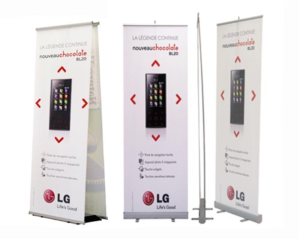 Trade Banner Stands : Banner stand displays pros